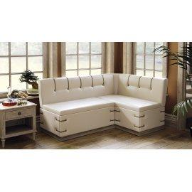 Кухонный диван Вегас угловой (дуб сонома трюфель/кож.зам бежевый)