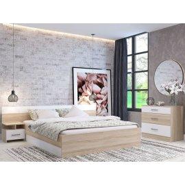 Спальня Уют-1 (Леси) сонома/белый