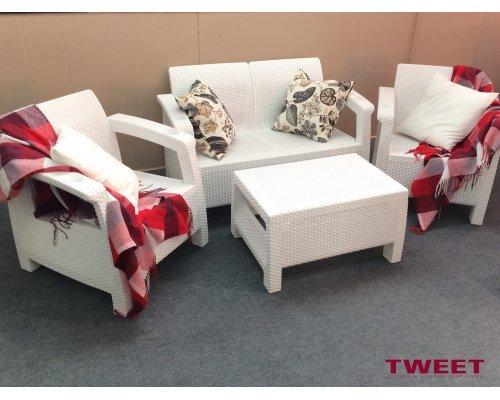 Комплект для отдыха TWEET Terrace Set white