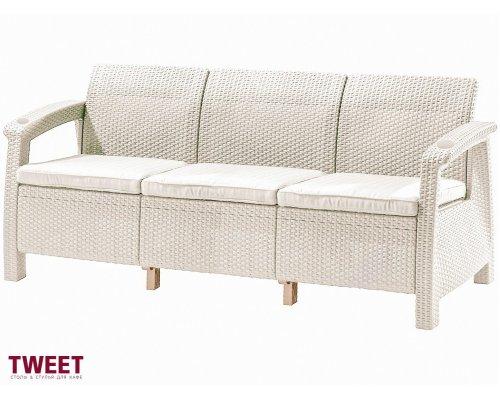 Диван TWEET Sofa 3 Seat white