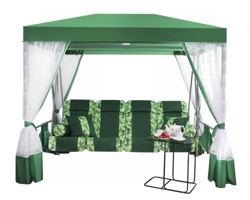Садовые качели-беседка ПРЕМИУМ со столиком