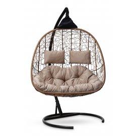 Подвесное кресло SEVILLA TWIN (горячий шоколад)