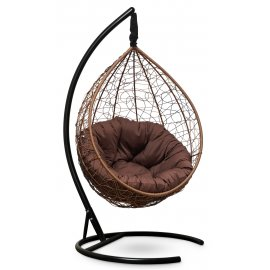 Подвесное кресло SEVILLA VERDE VELOUR (горячий шоколад)