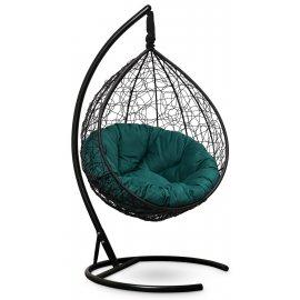Подвесное кресло SEVILLA VERDE VELOUR (черное)