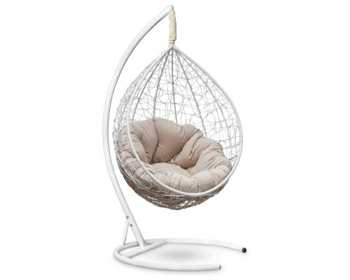 Подвесное кресло SEVILLA VERDE VELOUR (белое)