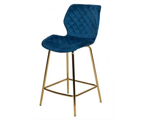 Барный стул WY-28 BLUE (WY11-108)/GOLDEN