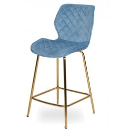 Барный стул WY-28 LIGHT BLUE (WY11-63)/GOLDEN