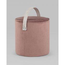 Пуф Джерри велюр темно-розовый
