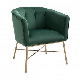 Кресло Шале велюр зеленый
