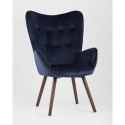 Кресло Гранд велюр синий