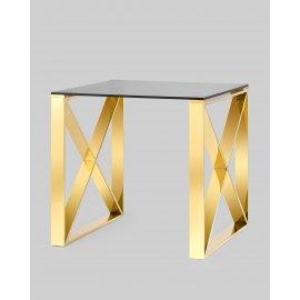 Журнальный стол Кросс 55*55 золото