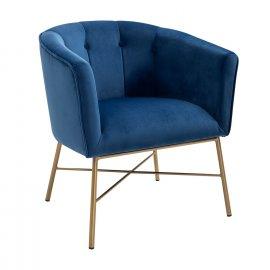 Кресло Шале велюр синий