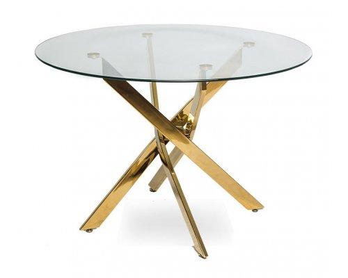 Обеденный стол LH-02 (1000) golden