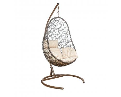 Подвесное кресло Leset Ажур коричневое