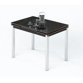 Обеденный стол Leset Париж 2Р раскладной (черное стекло)