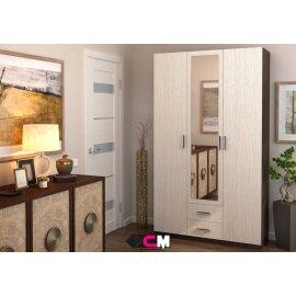 Шкаф Трио 3-х дверный с зеркалом