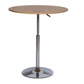Барный стол SN-10 wood/chrome 80