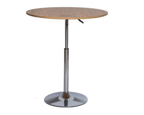 Барный стол SN-10 wood/chrome 60