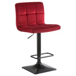 Барный стул LM-5018 бордовый велюр
