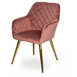 Кресло WY-43 PINK (WY11-34)/GOLDEN