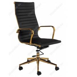 Компьютерное кресло Reus черное золото