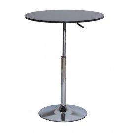 Барный стол SN-10 black/chrome 60