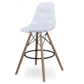 Барный стул SN-3 (Eames 3BT) прозрачный