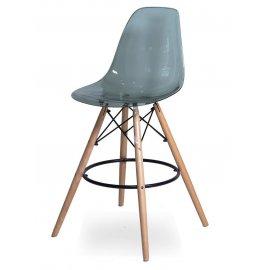 Барный стул SN-3 (Eames 3BT) прозрачный серый