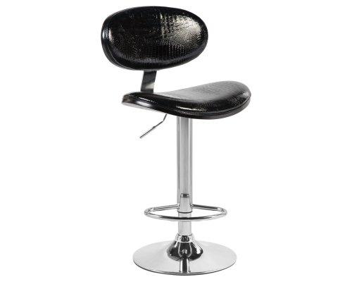 Барный стул LMZ-1098 (black wood/white croko)