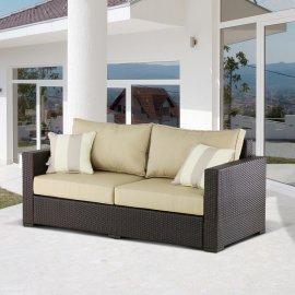 Плетеный диван из искусственного ротанга AFM-215B Brown