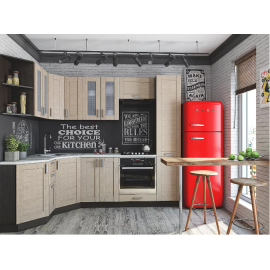 Угловая кухня Лофт-04 (cappuccino weralinga)