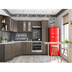 Угловая кухня Лофт-04 (wenge weralinga)