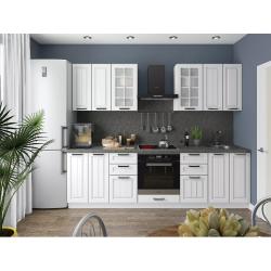 Кухня Прага-01 (белое дерево)