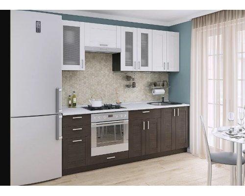 Кухня Лофт-01 (snow weralinga/wenge weralinga)