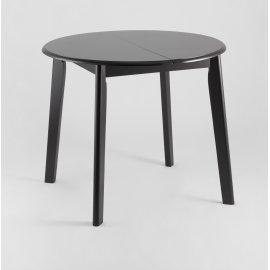Обеденный стол-трансформер Рондо (черно-коричневый)