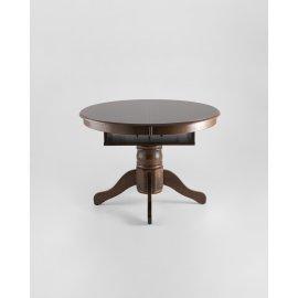 Раскладной обеденный стол Вена (темный дуб)