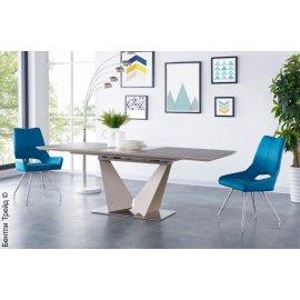 Раздвижной обеденный стол Иссак SH-110 (brown/cream)