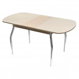 Обеденный стол Марсель-1 раскладной (белый дуб/песок)