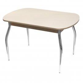 Обеденный стол Марсель-2 раскладной (белый дуб/песок)