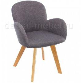 Стул Asia wooden legs/grey fabric