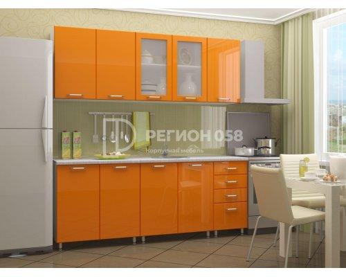 Кухня Настя 2.0 (оранжевый глянец)