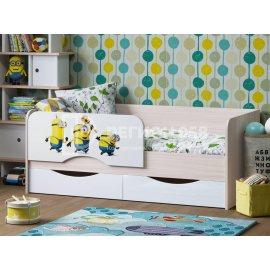 Детская кровать Юниор-12 (Миньоны)