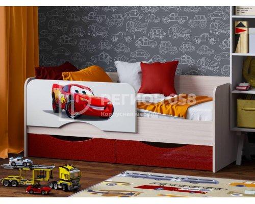 Детская кровать Юниор-12 (Тачки)