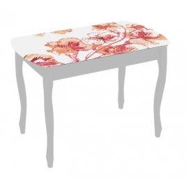 Обеденный стол Экстра-1 (белый/азалия)