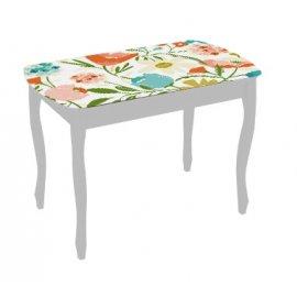 Обеденный стол Экстра-1 (белый/весна)