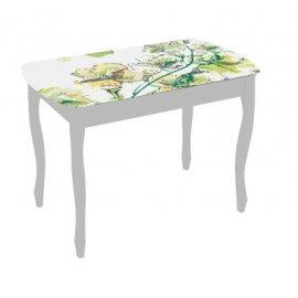 Обеденный стол Экстра-1 (белый/жасмин)
