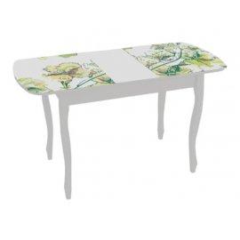 Раздвижной обеденный стол Экстра-2 (белый/жасмин)