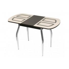 Обеденный стол Марсель-2 раскладной (венге/рис.песок)