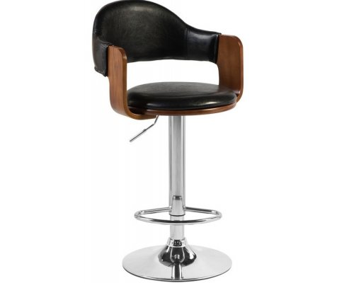 Барный стул LMZ-1052 (brown wood/brown)
