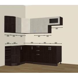 Кухня Лофт угловая 1200х2200